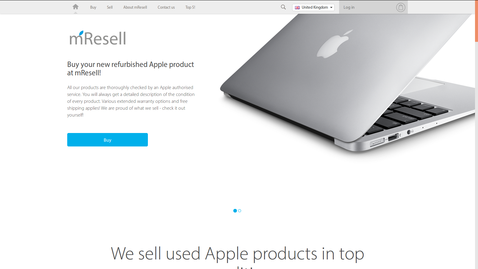 Buy refurbished Apple in great condition - mResell UK