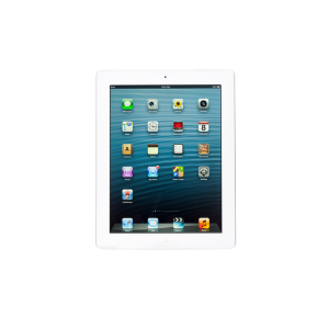 iPad 4th gen (Wi-Fi + 4G), 16 GB, Silver/White, Product age: 52 months