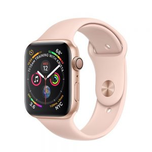 Watch Series 4 Aluminum (44mm), Gold, Pink Sand Sport Band
