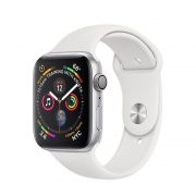 Watch Series 4 (40mm), Silver, White Sport Band