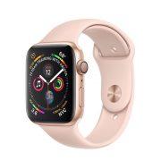 Watch Series 4 Aluminum Cellular (40mm), Gold, Pink Sand Sport Band