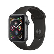 Watch Series 4 Aluminum (44mm), Space Gray, Black/Volt Nike Sport Band